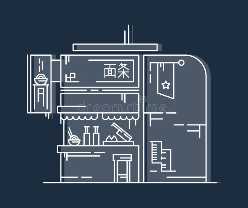 Chinesisches Nudel-Café stockbilder