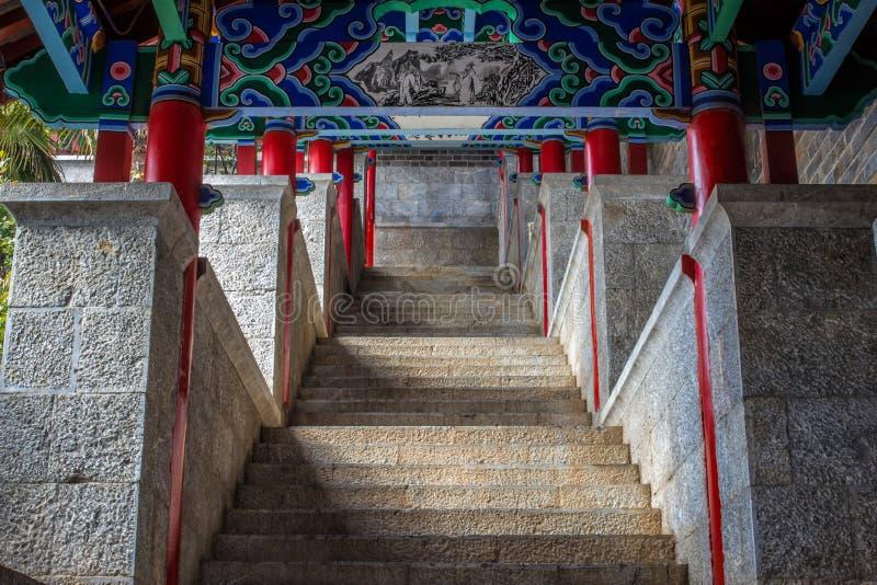 Chinesisches Palast-Treppenhaus stockfoto