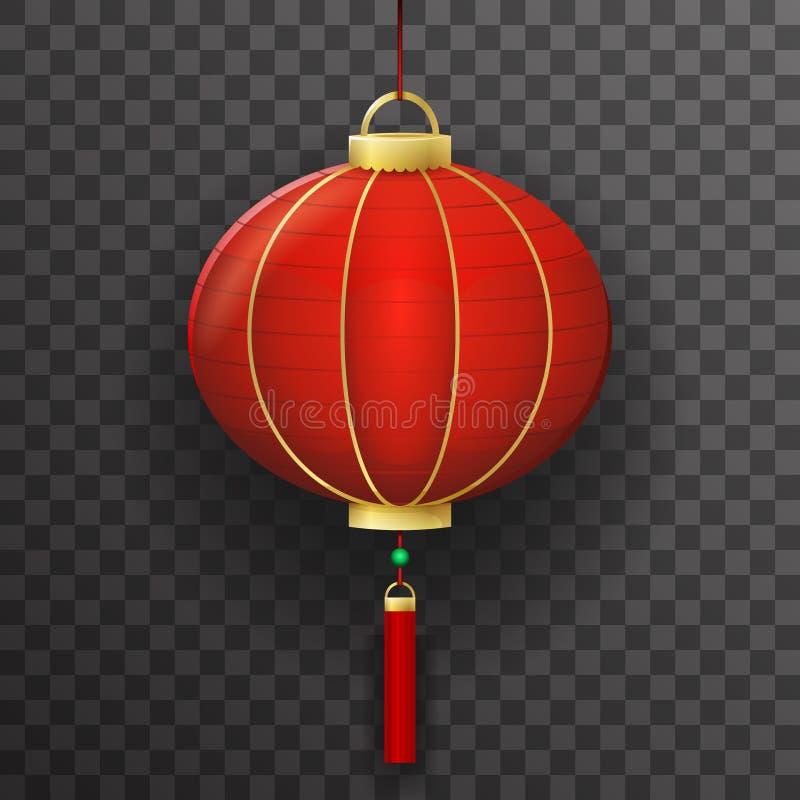 Chinesisches Papierlaternen-Zeichen-transparentes Hintergrund-Modell vektor abbildung