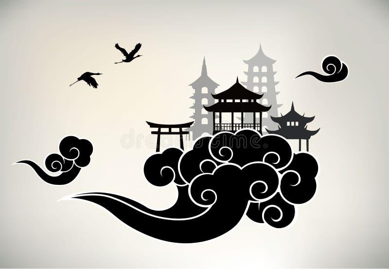 Chinesisches Paradies stock abbildung