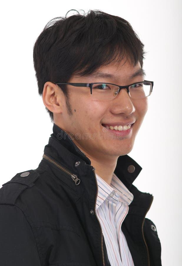 Chinesisches Portrait des jungen Mannes stockfotos
