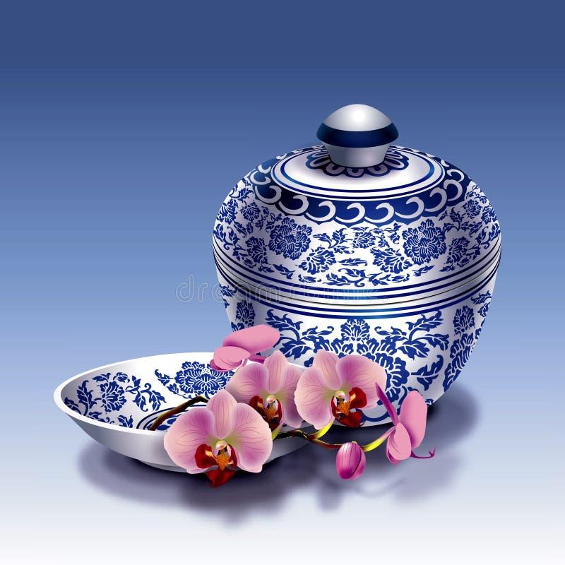 Chinesisches Porzellan stock abbildung