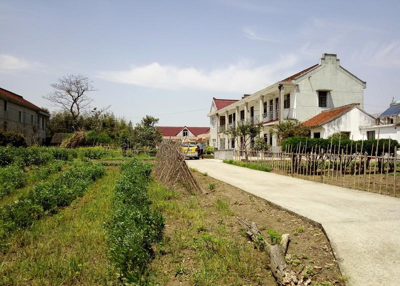 Chinesisches Süddorf und Bauernhaus lizenzfreies stockfoto