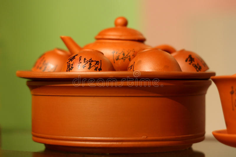 Chinesisches Tee-Set lizenzfreies stockfoto