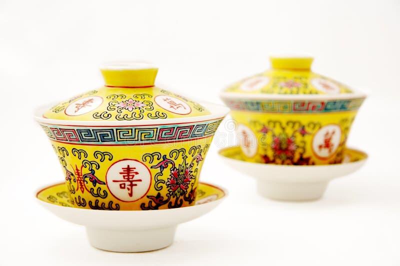 Chinesisches Teeporzellan lizenzfreie stockbilder