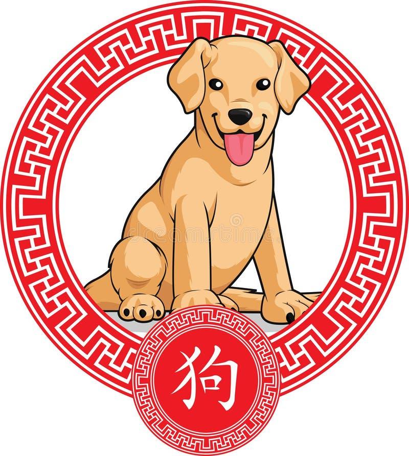 Chinesisches Tierkreis-Tier - Hund stock abbildung