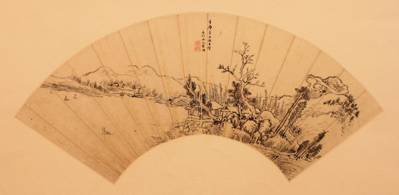 Chinesisches traditionelles faltendes Gebläse lizenzfreies stockfoto