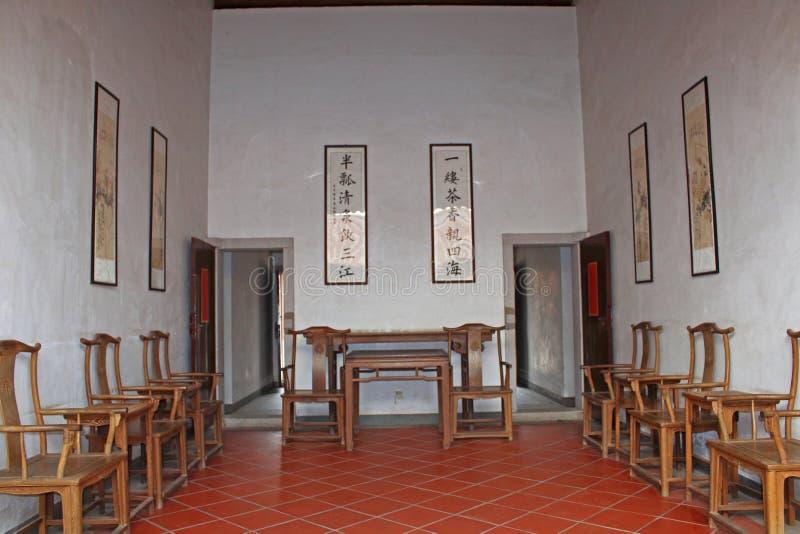 Chinesisches traditionelles Gebäude Innen stockbilder