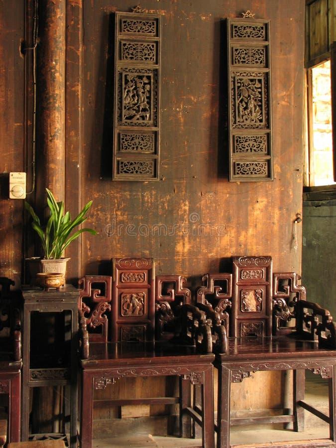 chinesisches Wohnzimmer stockbild