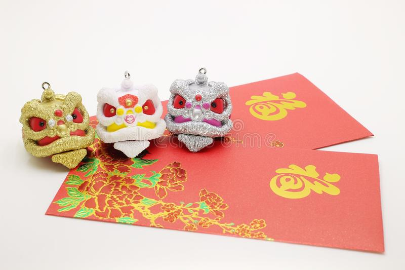 a chiness new year with red packet stock images
