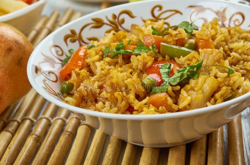 Ching ` s Schezwan Fried Rice Masala stock afbeelding
