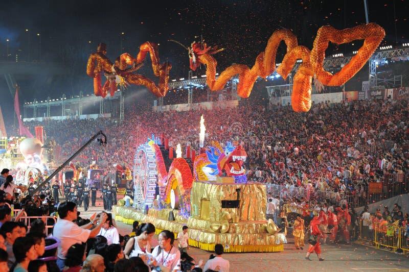 chingay παρέλαση Σινγκαπούρη το στοκ φωτογραφία