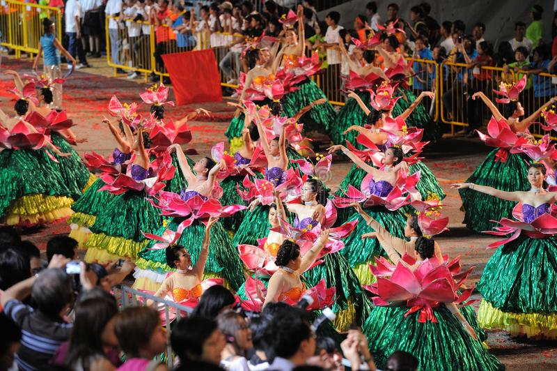 chingay παρέλαση Σινγκαπούρη το στοκ εικόνα με δικαίωμα ελεύθερης χρήσης