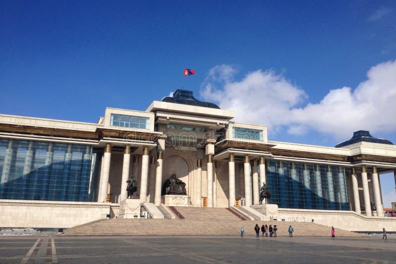 Chinggis Khan square. Chinggis Khan monument in Ulaanbaatar, Mongolia royalty free stock photography