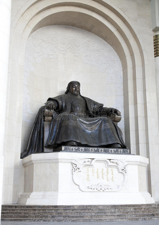 Chinggis Khan Statue imagem de stock royalty free