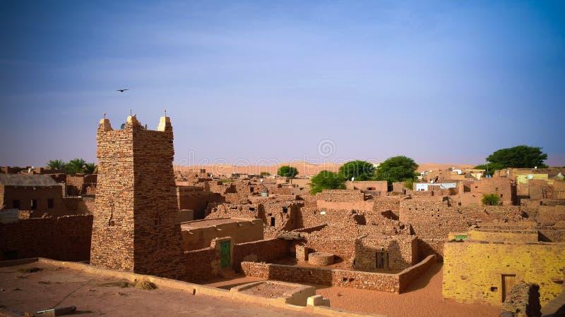 Chinguetti-Moschee, eins der Symbole von Mauretanien stockbild