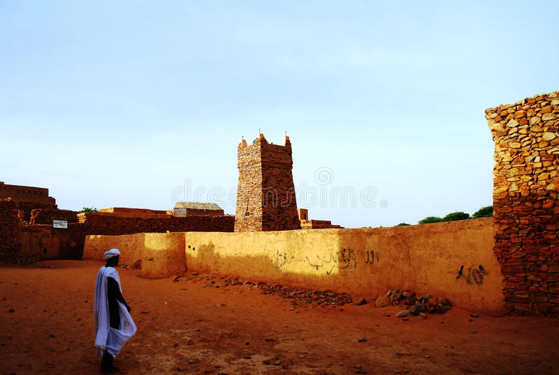 Chinguetti-Moschee, Mauretanien stockbild