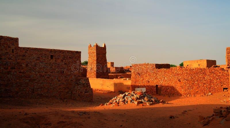 Chinguetti moské, Mauretanien royaltyfria bilder