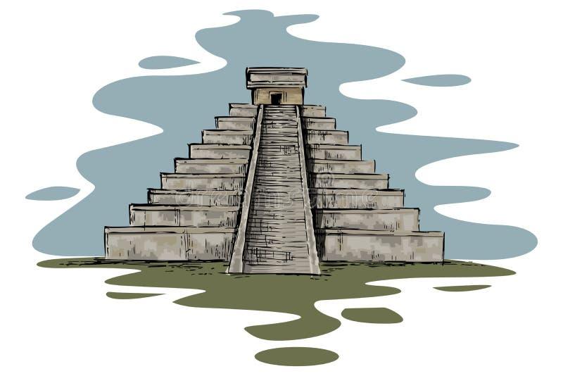 Chinhen Itza ilustración del vector