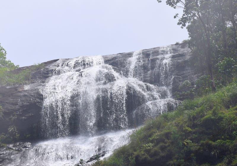 Chinnakanal siklawy przy Periyakanal, blisko Munnar, Idukki, Kerala, India zdjęcie stock