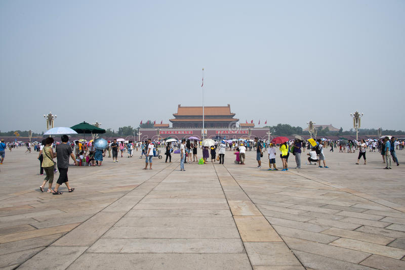 Chino asiático, Pekín, Plaza de Tiananmen fotografía de archivo