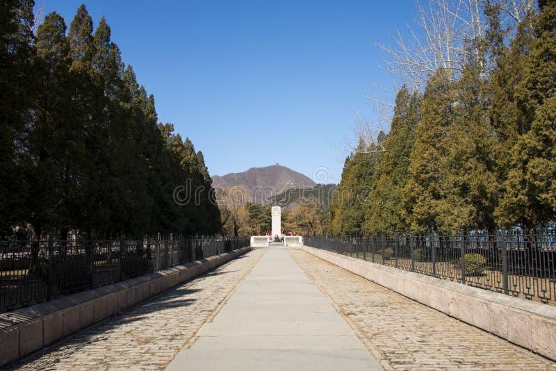 Chino de Asia, Pekín, área escénica de Ming Dynasty Tombs, pabellones de Œgateway del ¼ de Dinglingï foto de archivo