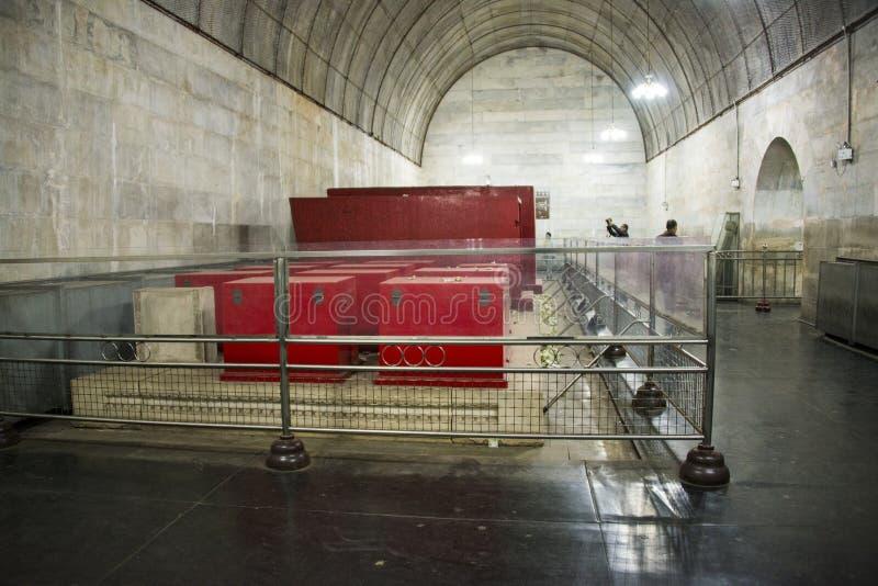 Chino de Asia, Pekín, tumba de ŒUnderground del ¼ del palaceï de Œunderground del ¼ de Ming Dynasty Tombsï imagen de archivo libre de regalías