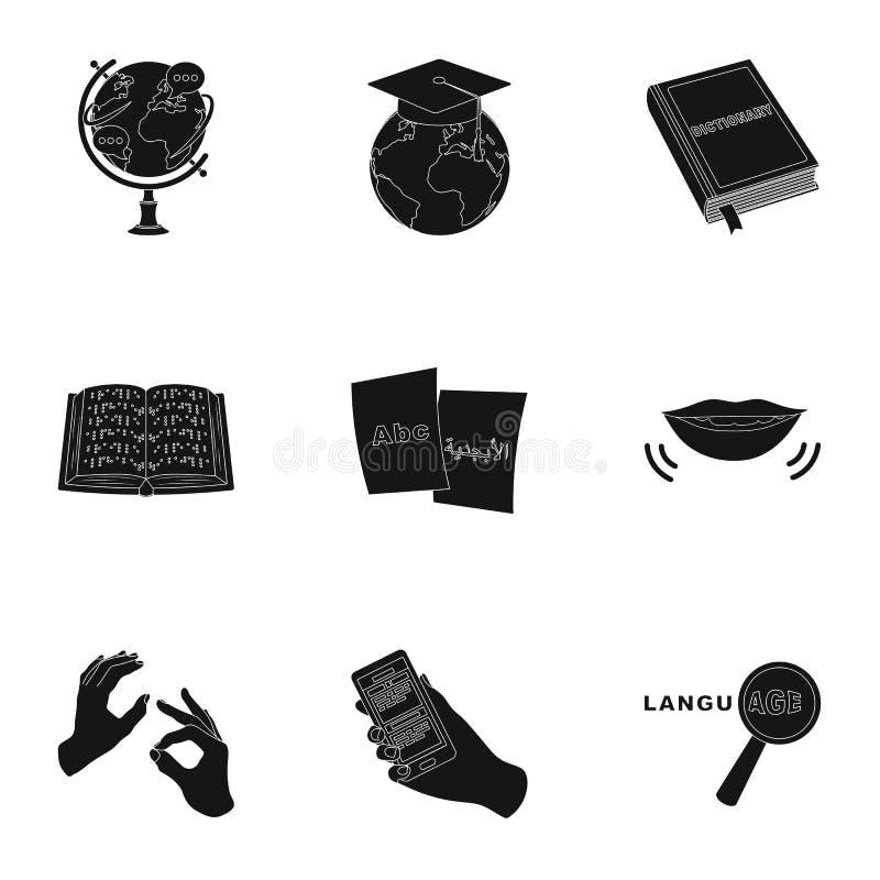 Chino de enseñanza en Rusia Traducción de la lengua china Icono del traductor del ANG del intérprete en la colección del sistema  libre illustration