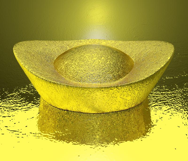 Chino de la moneda de oro imágenes de archivo libres de regalías