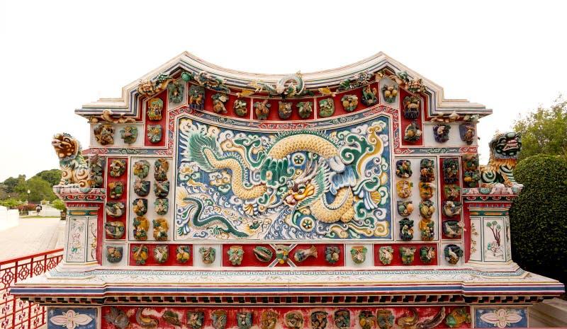 Chino Dragon Sculpture fotografía de archivo libre de regalías