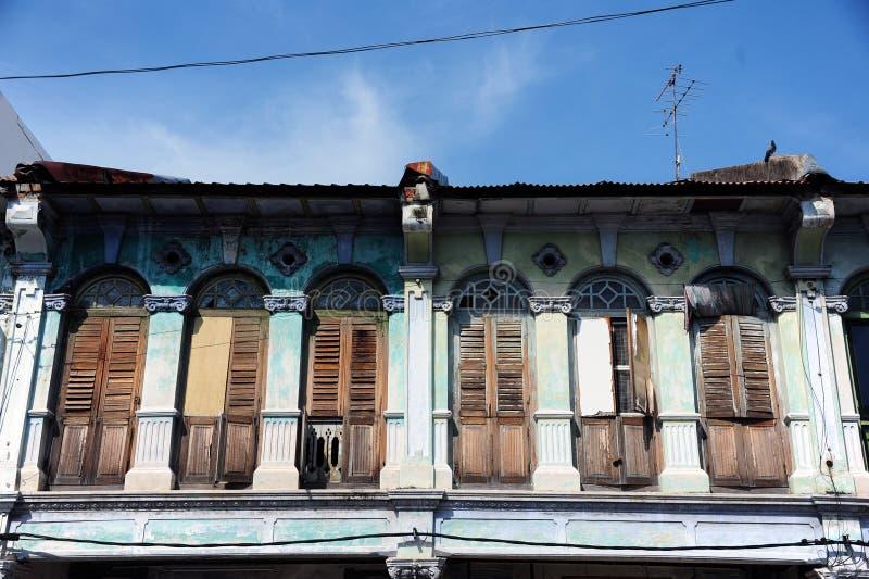 Chino Portuguese architecture style. Chino Portuguese detail architecture style stock photos