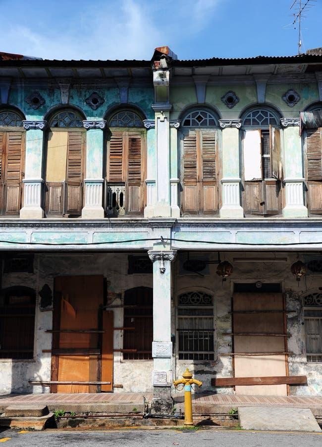 Chino Portuguese architecture style. Chino Portuguese detail architecture style stock photo