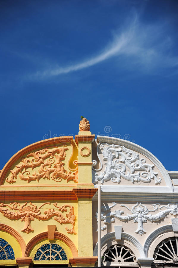 Chino Portuguese architecture style. Chino Portuguese detail architecture style royalty free stock images