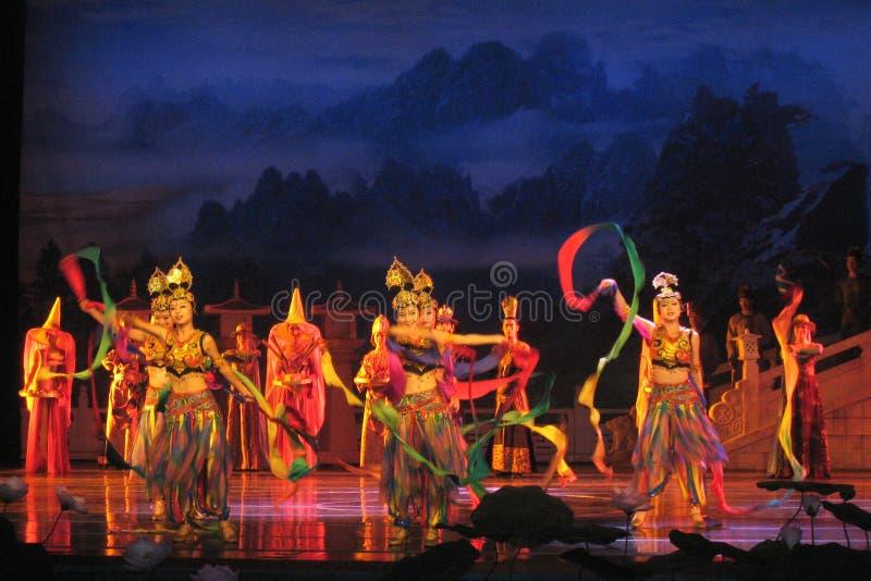 Chino Tang Dynasty Performance fotografía de archivo libre de regalías