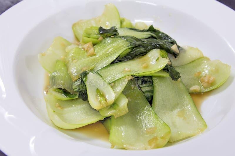 Chinois Bok Choy Stir Fry Dish photo libre de droits