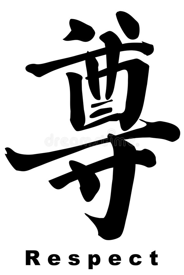 Chinois de calligraphie photo stock