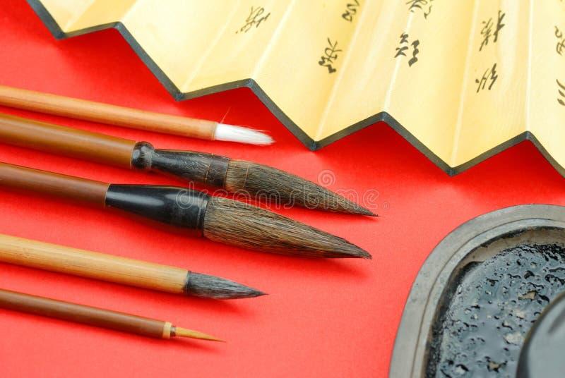 Chinois de calligraphie photographie stock