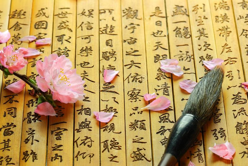 Chinois de calligraphie images stock
