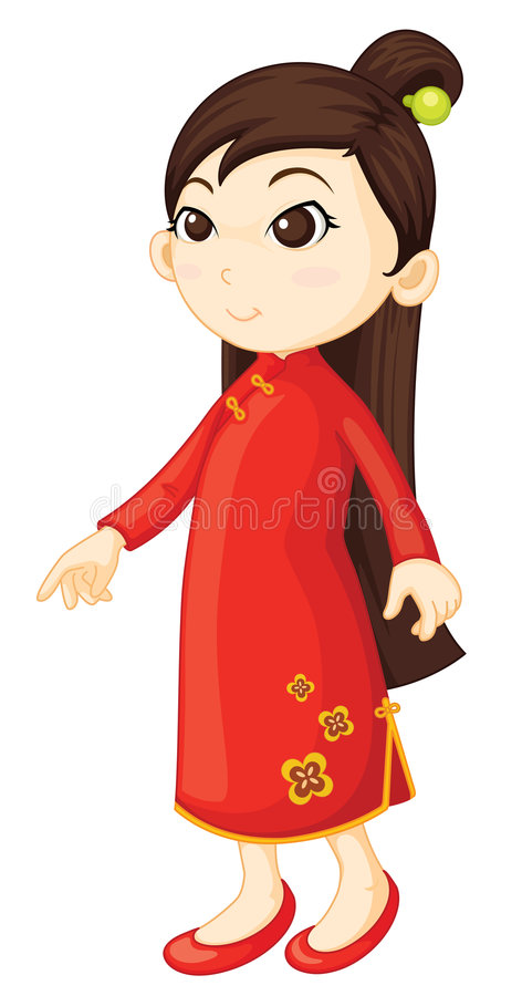 Chinois de cheongsam illustration stock