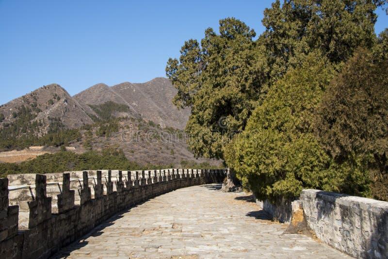 Chinois de l'Asie, Pékin, région scénique de Ming Dynasty Tombs, murs de ŒCity de ¼ de Dinglingï ; image libre de droits