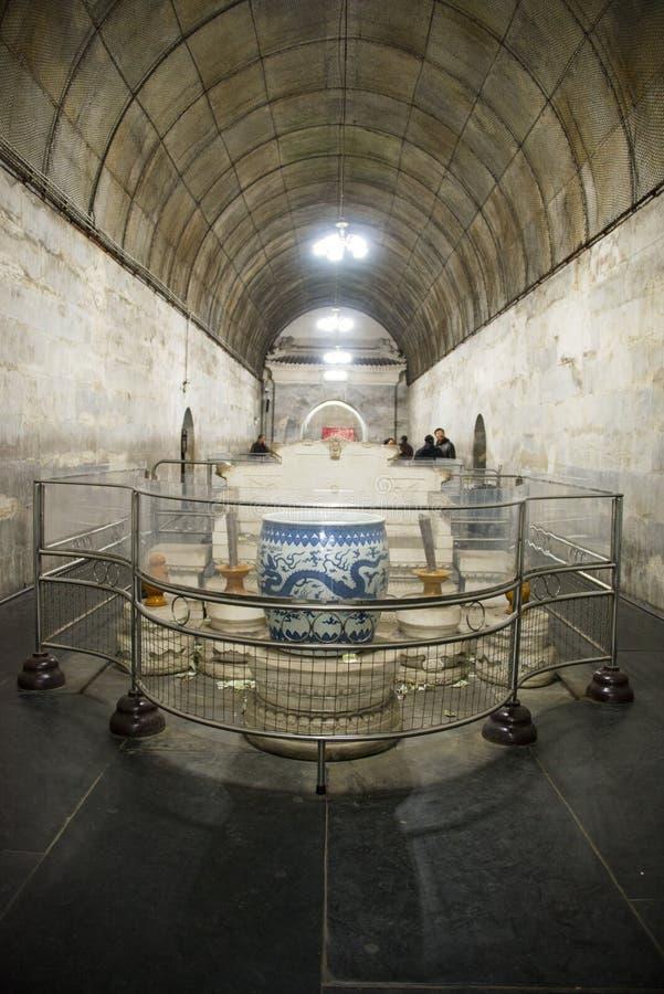 Chinois de l'Asie, Pékin, tombe de ŒUnderground de ¼ de palaceï de Œunderground de ¼ de Ming Dynasty Tombsï image stock