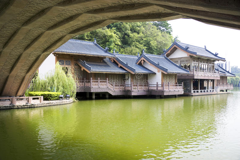 Chinois guilin de porcelaine d'architecture photographie stock