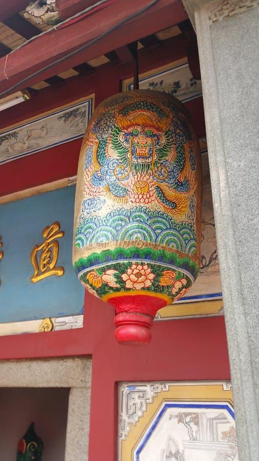 Chinois oriental de lanterne de dragon photos libres de droits