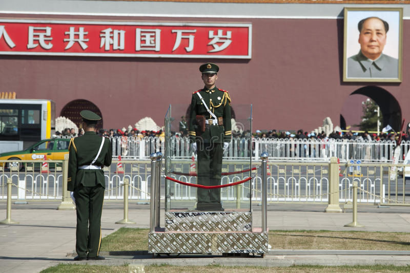 Chinois Soldiders - Mao photo libre de droits
