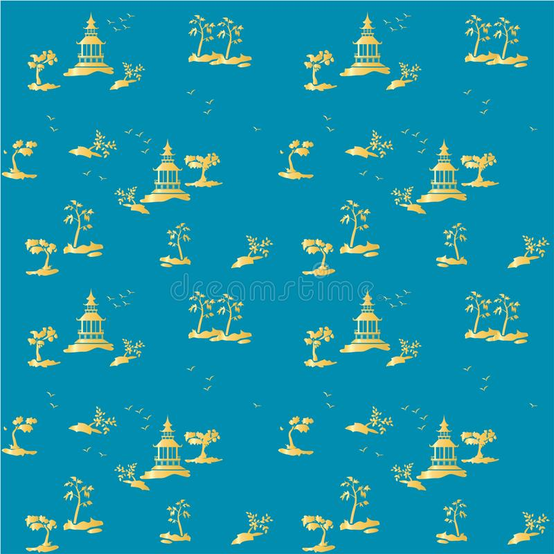 Chinoiserie Wallpaper Stock Illustrations 190 Chinoiserie
