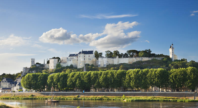 Chinon chateau, France royalty free stock photo