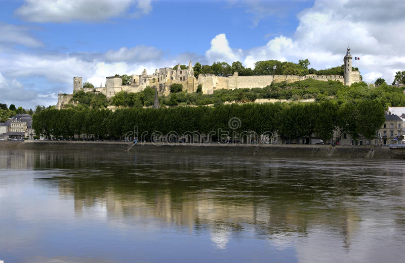 Chinon - Loire Valley - la France photographie stock libre de droits