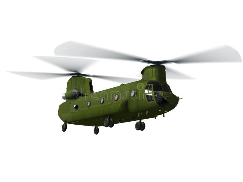 chinook ελικόπτερο μυγών διανυσματική απεικόνιση