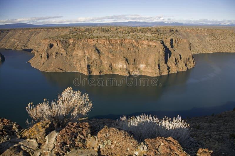 Chinook del Billy del lago nell'Oregon fotografia stock libera da diritti
