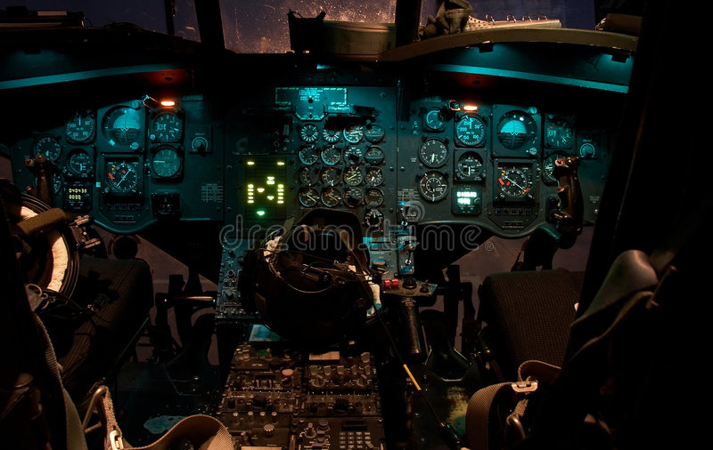 Chinook helicopter cockpit royalty free stock photos